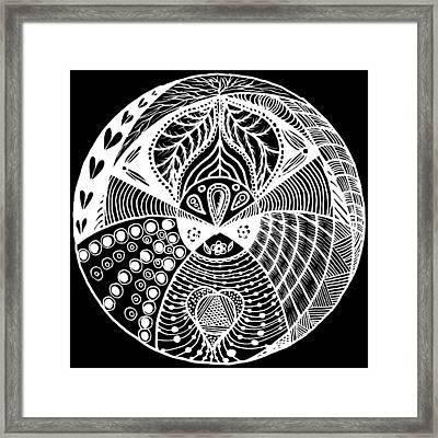 Mandala Ldv 2015-02-02 White Framed Print by Leana De Villiers