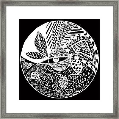 Mandala Ldv 2015-03-03 White Framed Print by Leana De Villiers