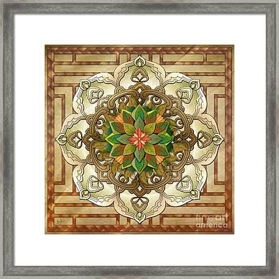 Mandala Leaf Rosette V2 Framed Print by Bedros Awak