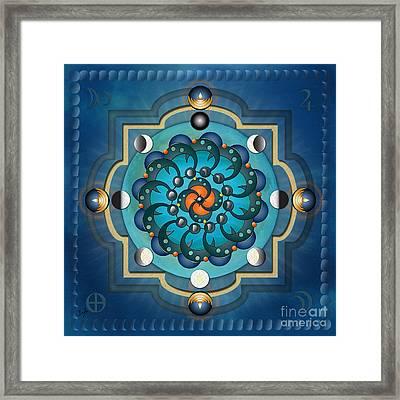Mandala Moon Phases Framed Print