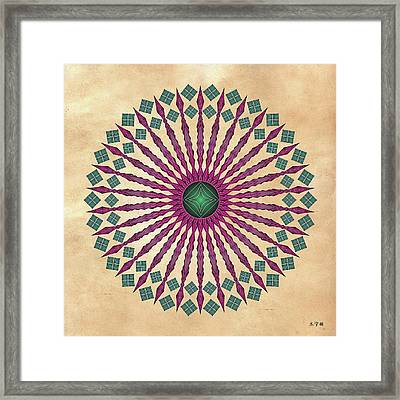 Mandala No. 13 Framed Print by Alan Bennington