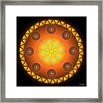 Mandala No. 60 Framed Print by Alan Bennington