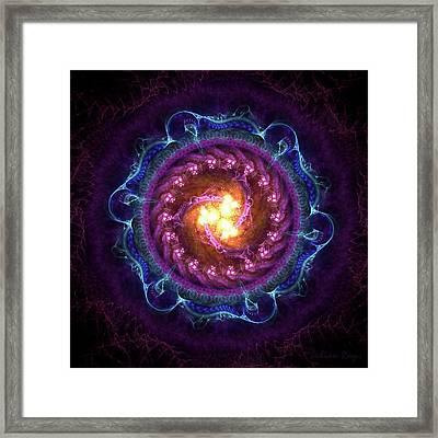 Mandala Of Five Elements Framed Print by Julian Ray
