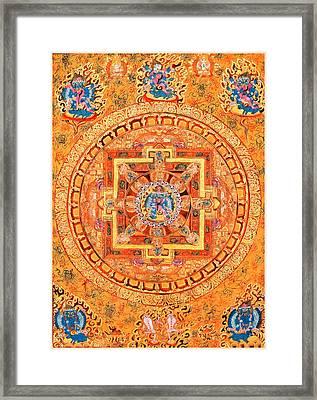 Mandala Of Heruka In Yab Yum Framed Print