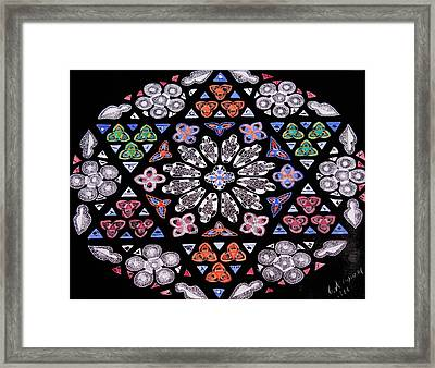 Framed Print featuring the painting Mandala Of Hope Phase 2 by Lisa Brandel
