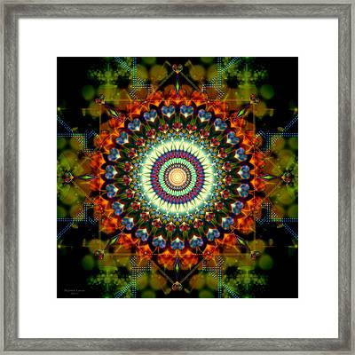 Mandala Of Loves Journey Framed Print by Stephen Lucas