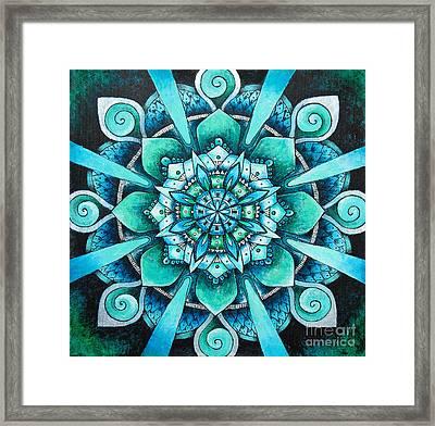 Mandala Of Depth Framed Print by Home Art