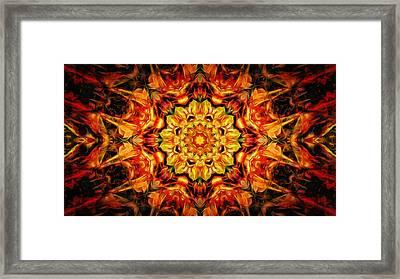 Mandala Of The Sun In A Dark Kingdom Framed Print by Anton Kalinichev