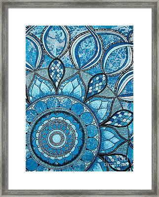 Mandala Of Water Element Framed Print by Home Art