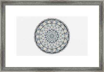 Mandala Patterns Abstract Art Framed Print
