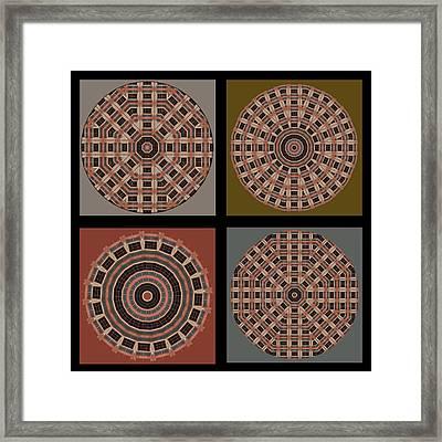 Mandala - Quadriptych Framed Print by Nikolyn McDonald