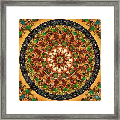 Mandala Rebirth Framed Print by Bedros Awak