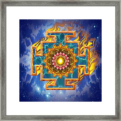 Mandala Shiva Framed Print by Mark Myers