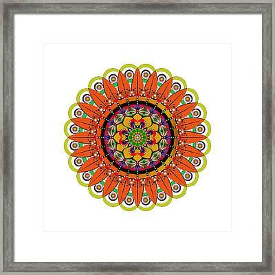 Mandala Sunflower Framed Print