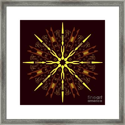 Mandala Sunset On The Beach Framed Print by Pablo Franchi