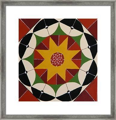 Mandala Framed Print by Terry Honstead