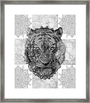 Mandala Tiger 2 Framed Print