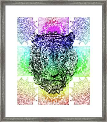 Mandala Tiger 3 Framed Print