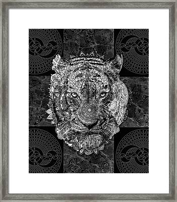 Mandala Tiger Framed Print
