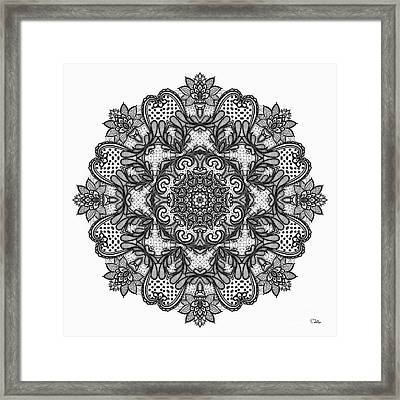 Mandala To Color 2 Framed Print by Mo T