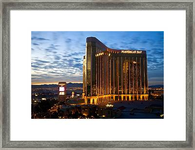 Mandalay Bay Sunrise Framed Print by James Marvin Phelps