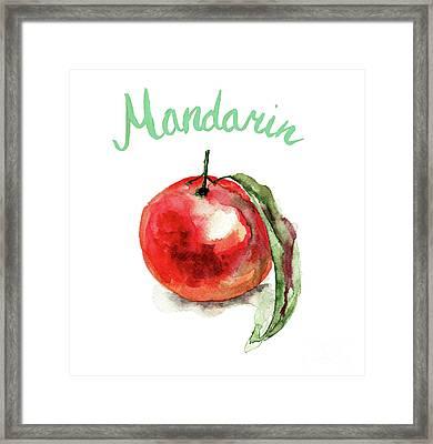 Mandarin Fruits Framed Print