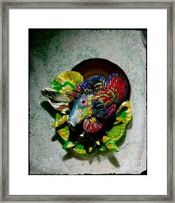 Mandarin Goby Finished Framed Print