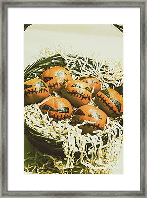 Mandarin Monsters Framed Print