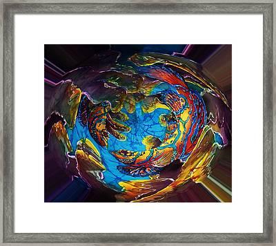 Mandarinfish Abyss Framed Print by Sue Duda