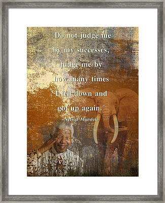 Mandela 4 Framed Print