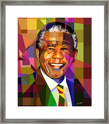 Mandela Framed Print by James  Mingo