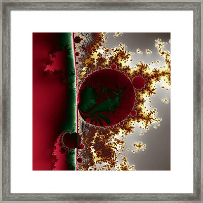 Mandelbrot At The Edge No. 1 Framed Print by Mark Eggleston