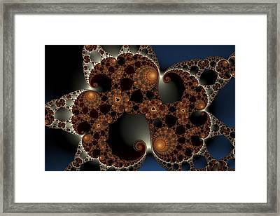 Mandelbrot Cluster Framed Print by Mark Eggleston