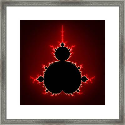 Mandelbrot Set Black And Red Square Format Framed Print