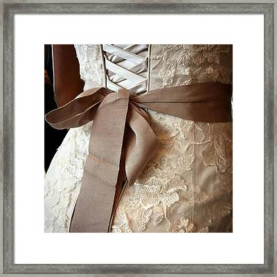 Mandi's Wedding Dress #juansilvaphotos Framed Print