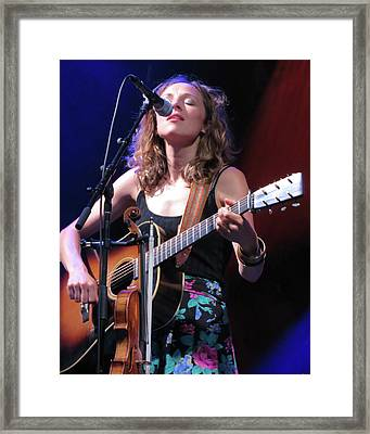 Mandolin Orange 01 Framed Print by Julie Turner