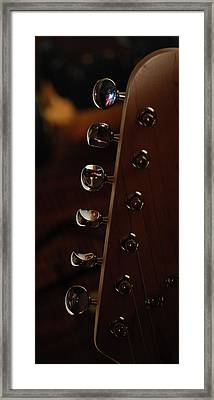 Mandolin Pegs Framed Print by Peter  McIntosh