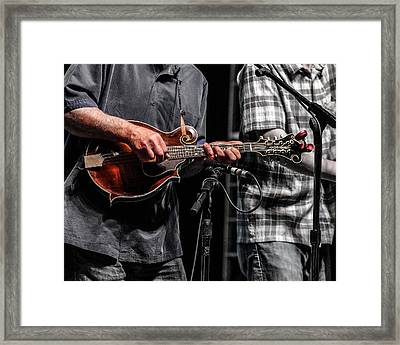 Mandolin Picker Framed Print