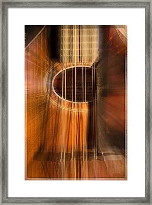 Mandolin Sound Explosion Framed Print by Mick Anderson