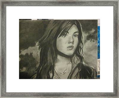 Mandy Moore Framed Print by Lillian  Pecina