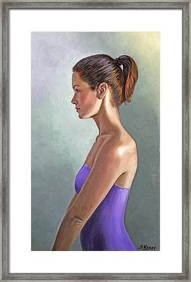 Mandy-profile Framed Print