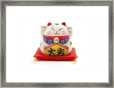 Maneki Neko Framed Print