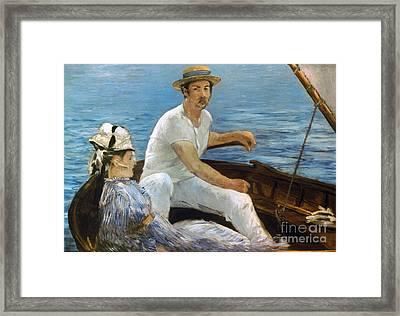 Manet: On A Boat, 1874 Framed Print by Granger