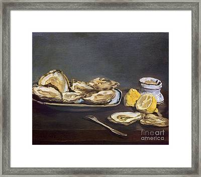 Manet: Oysters, 1862 Framed Print by Granger
