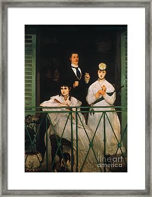 Manet: The Balcony, 1869 Framed Print