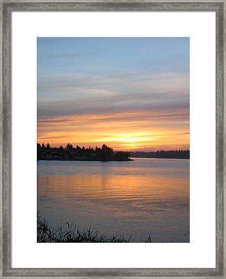 Manette Sunrise Framed Print by Valerie Josi