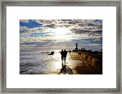 Framed Print featuring the photograph Mangalsala Pier by Fabrizio Troiani