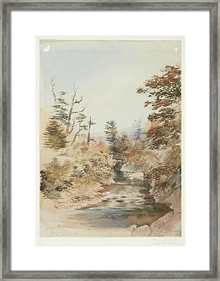 Mangaroa River, Upper Hutt Valley, November 1868, By Nicholas Chevalier Framed Print