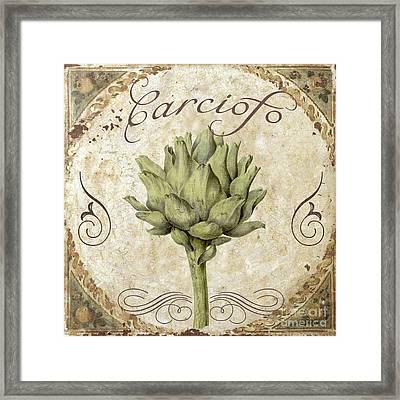 Mangia Carciofo Artichoke Framed Print