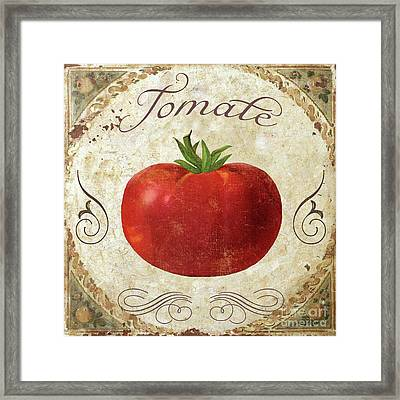 Mangia Tomato Framed Print by Mindy Sommers